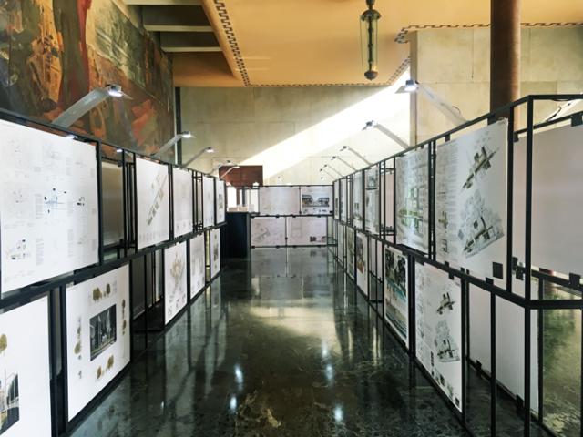 Esposizione dei progetti partecipanti al concorso Bergamo